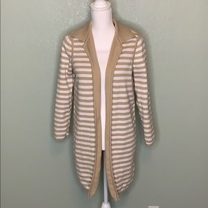 CHICO'S LONG STRIPED SWEATER SIZE 2